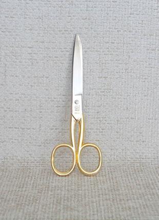 №442 Ножницы из набора для парикмахера Германия Ручки позолота бу