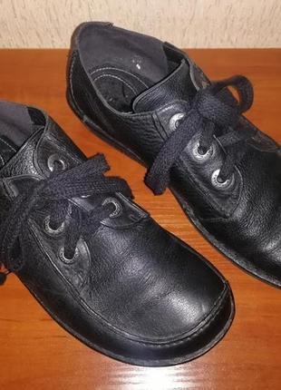 Женские демисезонные ботинки, туфли на шнурках, натуральная ко...