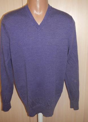Свитер кофта пуловер gap p.50(xl) 100% шерсть мериноса
