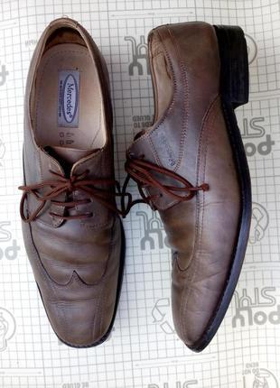Туфли оксфорды бежевые мужские на шнурках кожа mersedes 45 р 3...