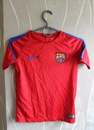 Крутейшая фирменная детская яркая футболка nike barcelona juni...