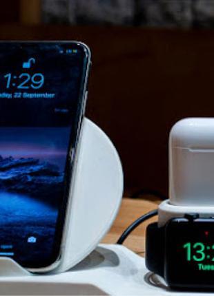 Беспроводная зарядка Wireless Charger 3 in 1