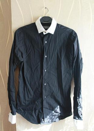 Элегантная мужская черная рубашка zara man