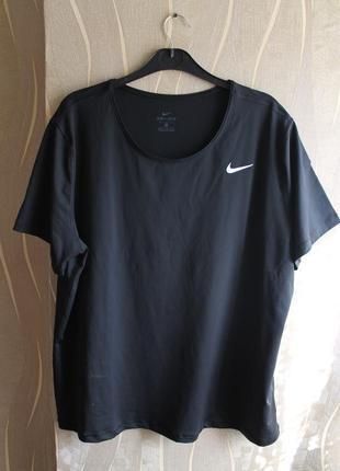 Женская футболка для тренинга с коротким рукавом (большой разм...