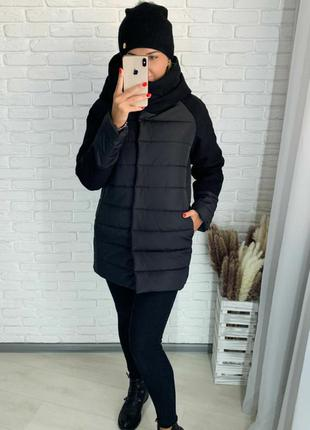 Куртка женская зимняя удлиненная 46