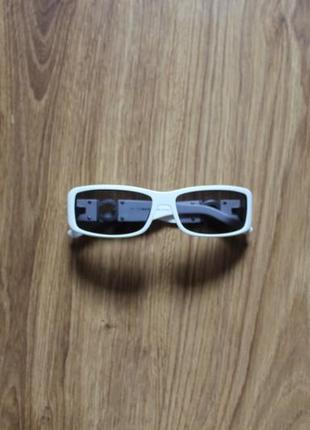 Блестательные белые женские солнцезащитные очки италия iceberg