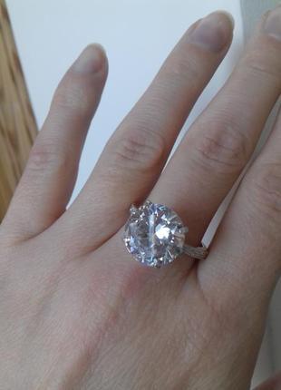 Серебряное кольцо персия с крупным камнем 17