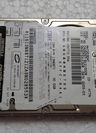 Жесткий диск ноутбука HDD IDE 2.5 30GB FUJITSU бу (NN32T531EDUR)