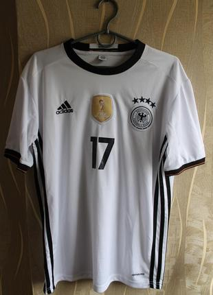 Крутейшая мужская фанатская футболка германия adidas