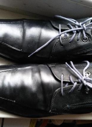 Мужские туфли bugatti из натуральной кожи. размер 43