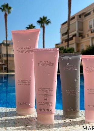Mary kay волшебный набор timewise age minimize 3d с spf 30