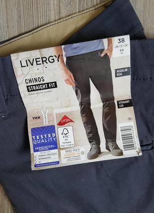 Стильные мужские брюки штаны чиносы темно-серого цвета livergy 54