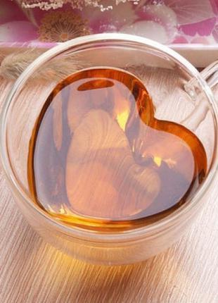 Чашка с двойным дном с сердцем внутри