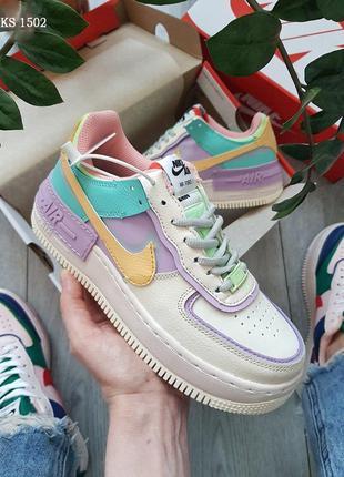 Nike Air Force 1 low (фиолетово/белые)