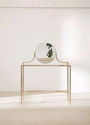 Купить маникюрный стол с зеркалом со стеклянной столешницей