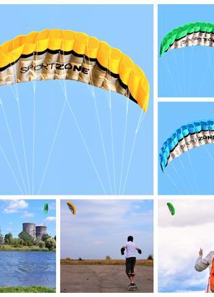 Пилотажный ( учебный ) кайт. Воздушный змей управляемый. Видео.