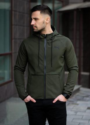 Мужская демисезонная куртка/ ветровка puma soft shell