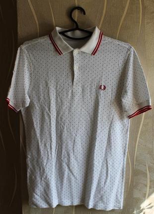 Превосходная футболка в точку с воротником поло fred perry