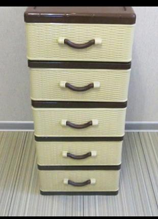 Для хранения детских игрушек и вещей на 5 ящиков комод шкафчик