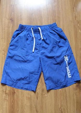 Крутые летние пляжные шорты с карманами синего цвета nike