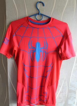 Красочная термо компрессионная футболка для спорта marvel sond...