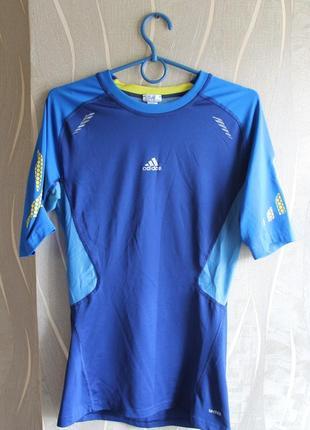 Необычная термо компрессионная футболка в крутом дизайне adida...