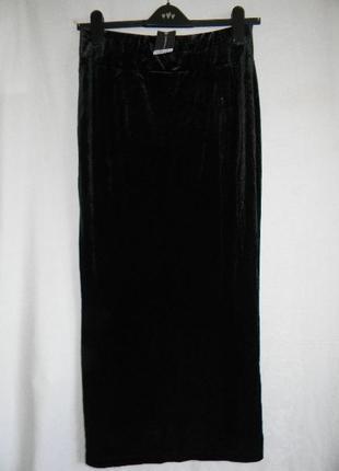 Новая велюровая длинная юбка dorothy perkins