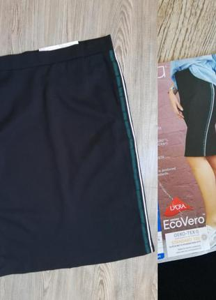 Красивая юбка карандаш с полосами по боках esmara m