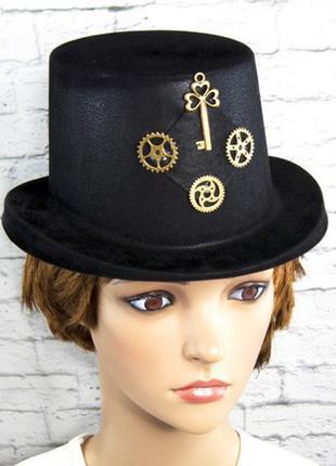 Шляпа цилиндр детская маскарадная стимпанк механик