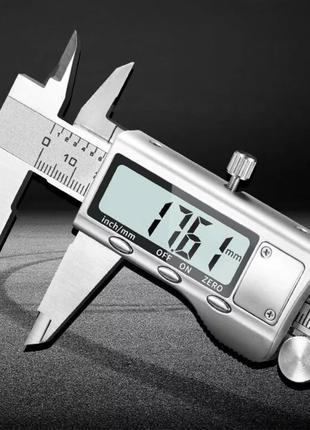 Штангенциркуль электронный металлический 150 мм (шаг 0.01 мм)