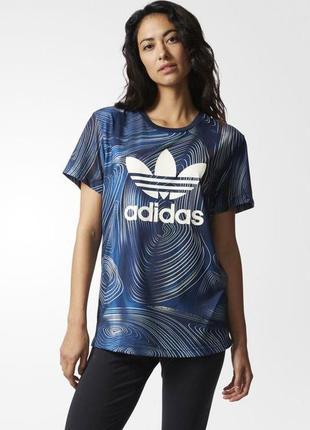 Неповторимая суперстильная футболка женская с большим лого adi...