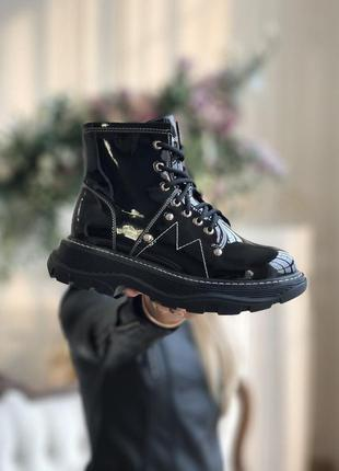 Alexander mcqueen tread slick boots ботинки женские маквины