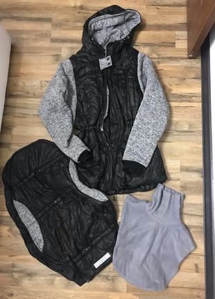 Зимняя слингокуртка/куртка для беременных S/M