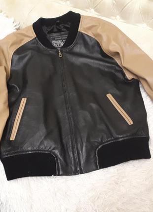 Sticks & stones голландия /мужской бомбер/ куртка из кожи р.s-...