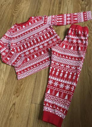 Комфортная натуральная хлопковая пижама на 2-3 годика будет и ...