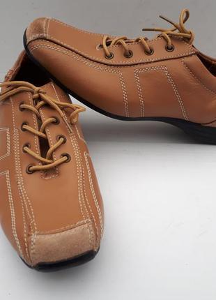 Ортопедические кожаные женские закрытые туфли/полуботинки/air ...