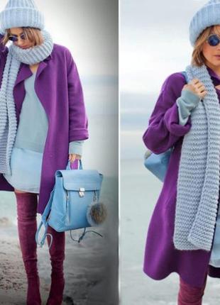Добротное женское пальто на запах /слегка оверсайз/италия + по...