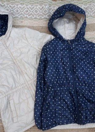Утепленная двухсторонняя куртка девочке/benetton/италия/р.130с...