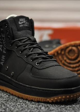 Кроссовки nike obj air force black черные