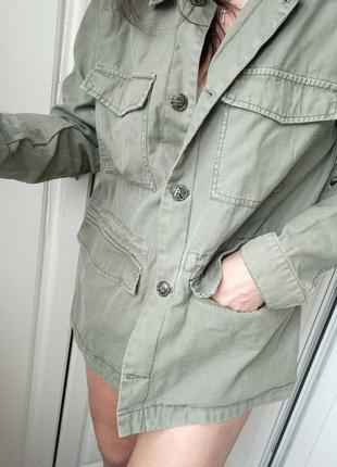 Трендовая куртка рубашка милитари