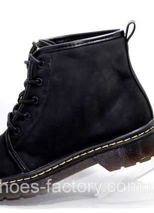 Женские осенние ботинки Доктор Мартинс, Чёрные, купить