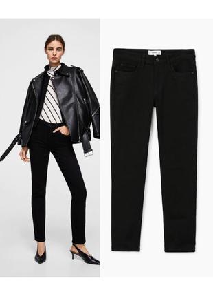 Черные слегка прямые джинсы straight