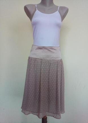Нежная легкая юбка шелк