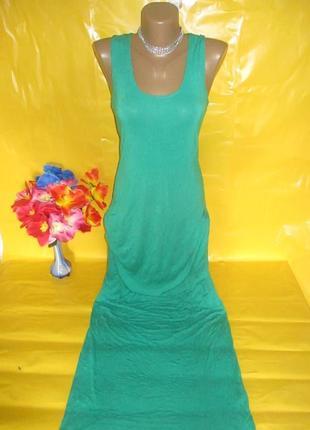 Очень красивое женское платье-майка в пол
