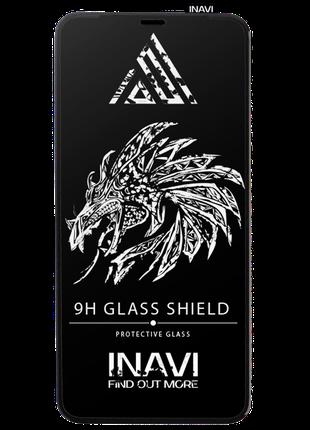 Защитное стекло  INAVI PREMIUM Xiaomi Redmi 9 черный
