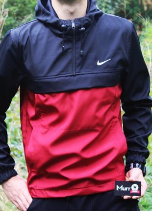 Анорак Nike красно-черный