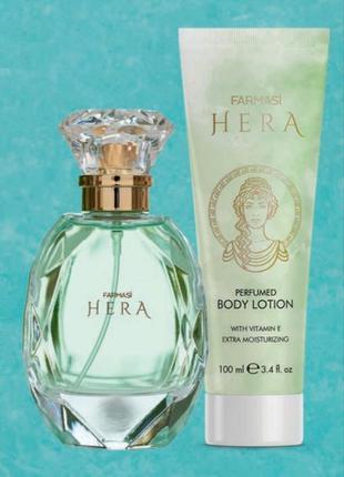 Парфюмированная вода hera farmasi +лосьон для тела