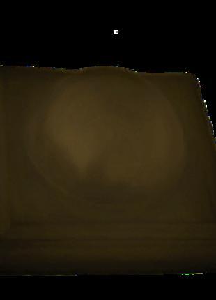 Крышки на столбы забора «КУЛЯ ВЕЛИКА» 450х450 мм коричневая.