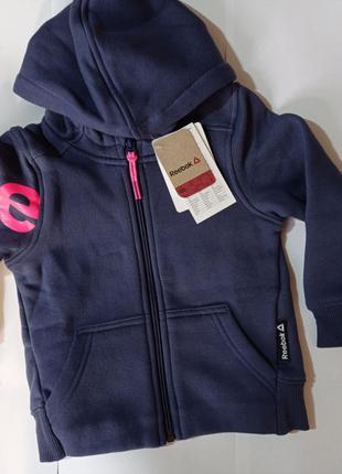 Reebok оригинал детская кофта для девочки теплая на 3-4 года