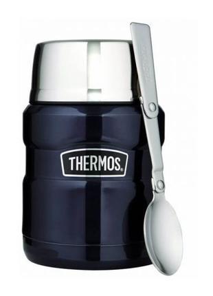 Термос для еды Thermos с ложкой 470 мл Темно-синий 173020 Midn...